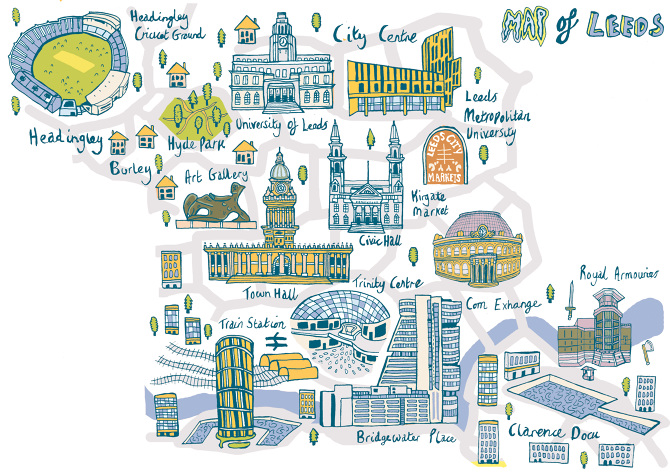 Citipark Sponsor Leeds Map Of Similiar City Center